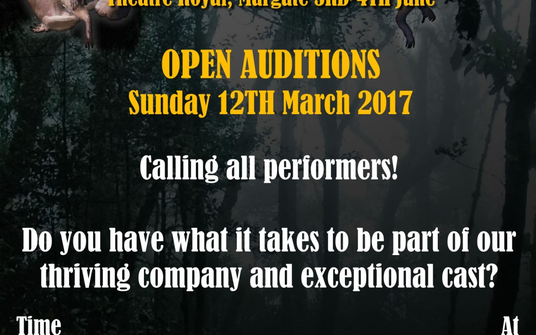 The Jungle Book Summertime Pantomime – Auditions being held at Jo Jo's School of Dance