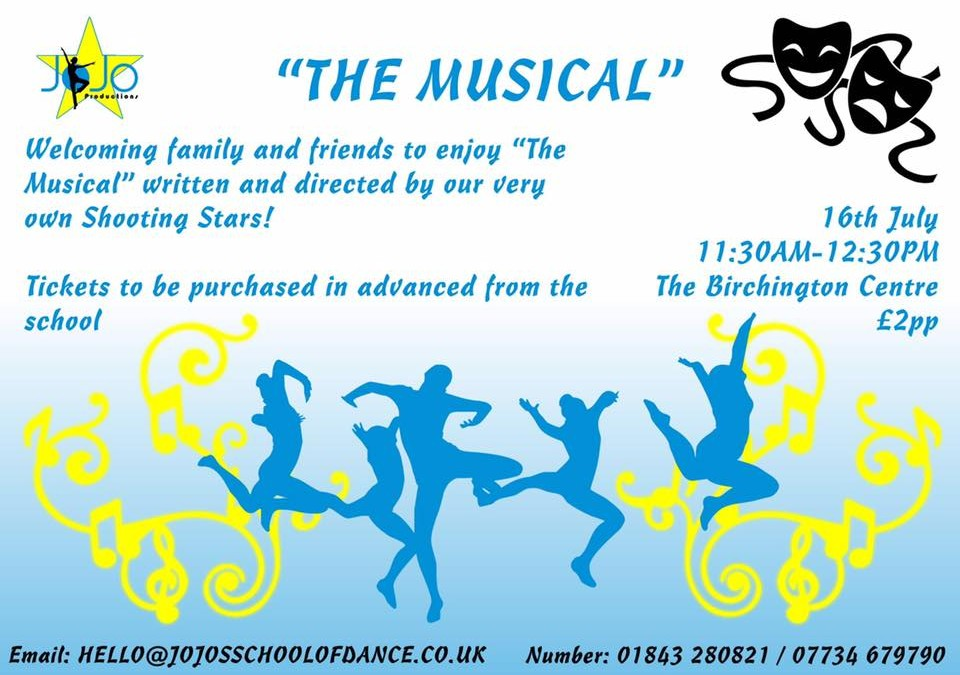 """""""The Musical"""" 2017 – Jo Jo Star Productions Show Case"""